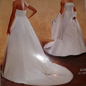 Ginnis NWT Wedding Dress Strapless Pearl Detail 12